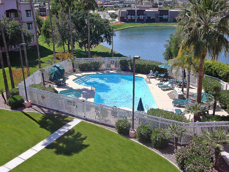 Windmill Suites Inn Surprise aerial of pool area