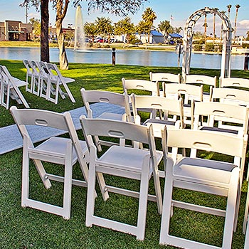 Photo of wedding area and seating